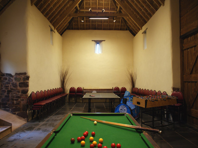 Games room has pool, table tennis and darts