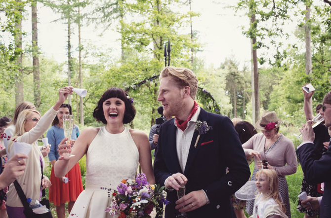 The laid back woodland wedding in the heart of Devon. Middle Coombe Farm forever…
